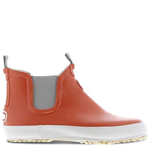 Nokian Footwear Hai Low knöchelhohe Kurzschaft Gummistiefel für Damen und Herren handgefertigt aus Naturkautschukmischung, Orange, 37 EU