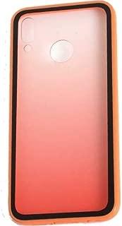 Kaltel Gsm Samsung Galaxy A20 Estel Renk Geçişli Soft Silikon + Cam Koruyucu Kılıf - Turuncu