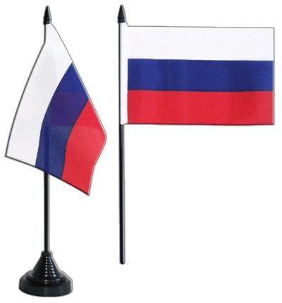 Digni® Drapeau de Table Russie, Mini Drapeau - 10 x 15 cm