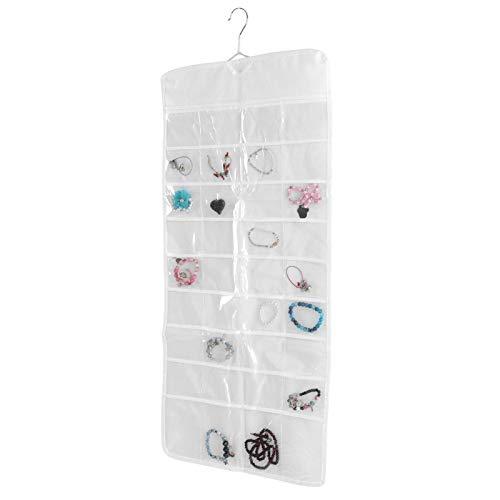 Kadimendium Bolsillos de Almacenamiento Organizador Bolsa Colgante de joyería Bolsas Transparentes de PVC para Llave