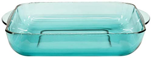 Red Co. Square Green Clear Glass Casserole Baking Dish, Oven Basics Bakeware — 3.3 Quarts - 11' x 11' 2½'