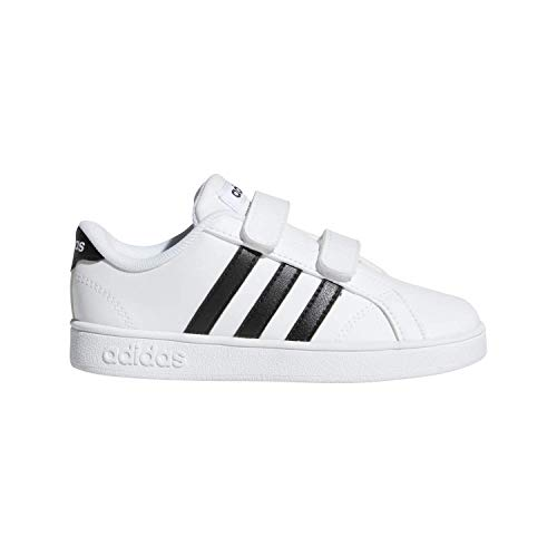 adidas Performance Baby Baseline Sneaker, White/Black/White, 8.5K M US Toddler