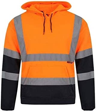 Hi Vis High Visibility Mens Tracksuit Zip Hoodie /& Jogging Bottom Safety Work