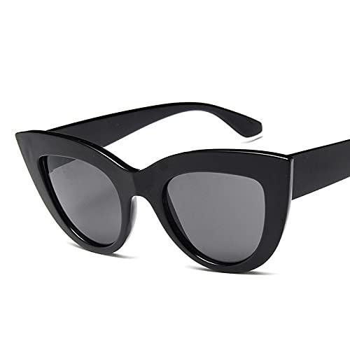 Gafas De Sol Gafas De Sol Retro Sexy Ojos De Gato Negro para Mujer Gafas De Sol De Marca De Lujo Retro para Mujer Uv400 Gafas De Croma Negro