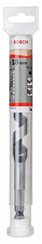 Bosch 2608585704 Auger Drill Bit, Hex Shank, 18mm x 100mm x 160mm, Black/Silver