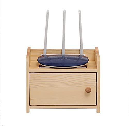 Caja para Cables y Router, Caja Madera Almacenaje para Router Wifi, Caja para Cables Pequeia y Grande, Caja para Cables Decorativa, Caja para Cables TV, Caja Oculta Cable Madera A-29×18×23 cm