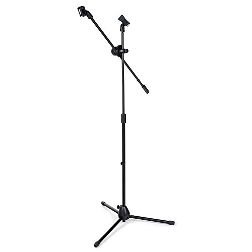 Microphone Stand Boom with Free Adjustable Clips