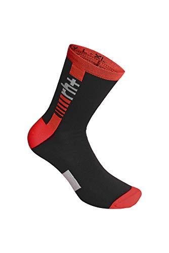 RH+ Logo Merino Sock 15 Logo Merino Sock 15, Unisex – Adulto, black/white/red code, L/XL