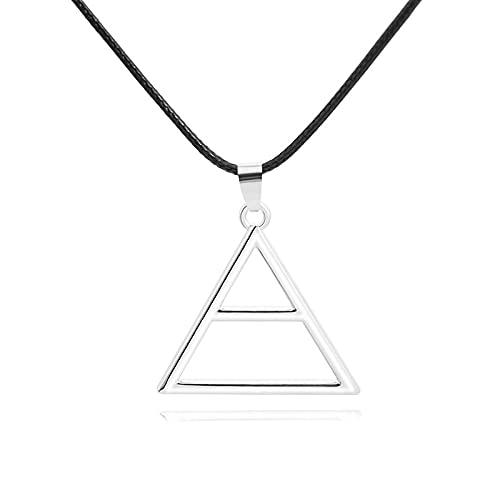 30Seconds To Mars Herren Logo Dreieck Anhänger Halskette Europäische Und Amerikanische Film- Und Fernsehzubehör Cosplay Requisiten