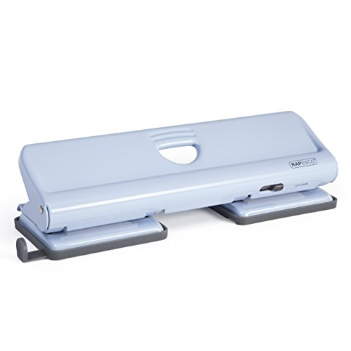 Rapesco 1348 - Perforador de agujeros de metal 720 Punzón 4x (hasta 22 hojas) Azul