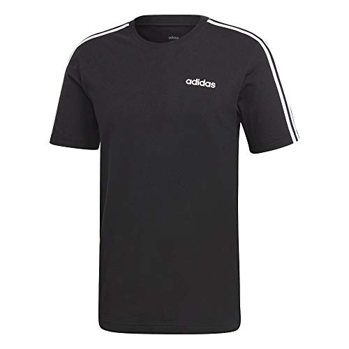 adidas Essentials 3 Stripes - Camiseta blanco/negro XL