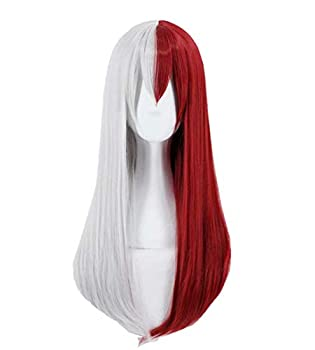 Yamia Anime Cosplay Wig for My Hero Academia Shoto Todoroki Cosplay Wigs with Free Wig Cap Long Straight