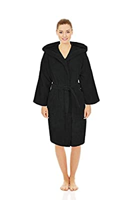 Silken Teenager Robe 100% Turkish Cotton Terry Hooded Bathrobe Extremely Absorbent Towel