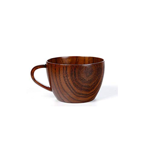 Maya Star Tazas de té japonesas de madera de azufaife natural de...