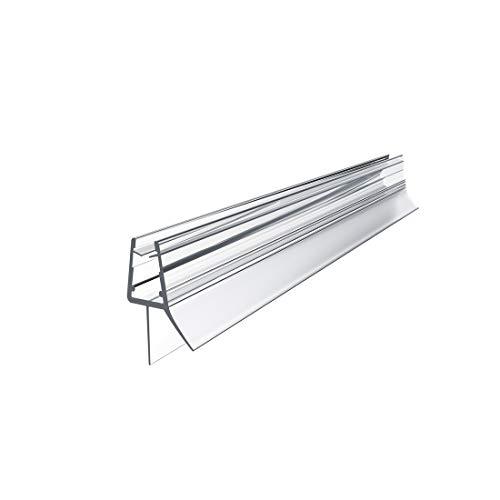 WELMAX Duschdichtung 100cm für Duschtür Glasstärken von 4-6mm | PVC Dichtung Ersatzdichtung mit Wasserabweiser für Duschkabine & Glastüren