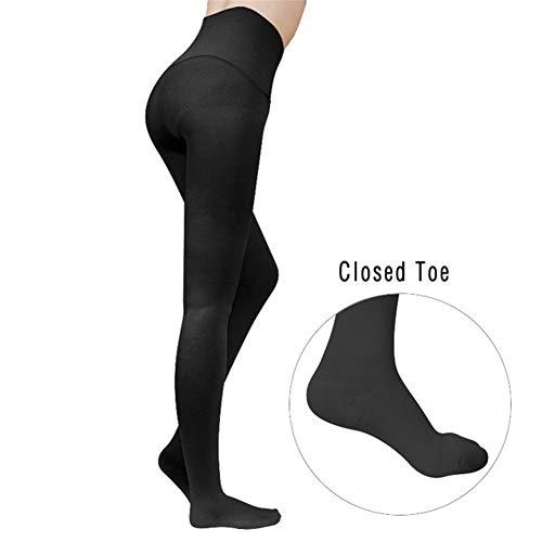 NCCYC Varizen Socken for Damen 23-32mmHg Medical Compression Panty Hose Kompressionsstrümpfe Varizen Elastic Pflege Socken Kompressionsstrümpfe (Color : Black, Size : XL)