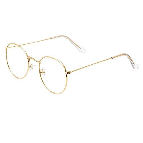 Cornice Rotonda Occhiali Da Sole Vintage Retrò Femminile Telaio Lente Trasparente Eyeware Occhiali Da Vista 210103 (Frame Color : C1)