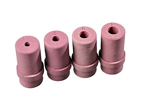 4-tlg. Set Ersatzdüsen Keramik SBC220 SBC90 Sandstrahlpistole Strahldüsen Typ S1