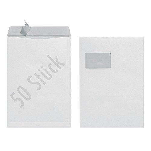 Preisvergleich Produktbild herlitz Versandtasche,  DIN C4,  mit Fenster,  weiß 140900702