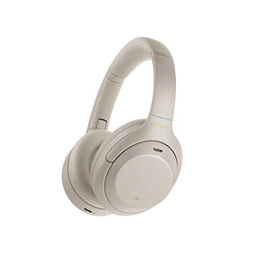 Sony WH-1000XM4 kabellose Bluetooth Noise Cancelling Kopfhörer (30h Akku, Touch Sensor, Headphones Connect App, Schnellladefunktion, optimiert für Amazon Alexa, Headset mit Mikrofon) Silber