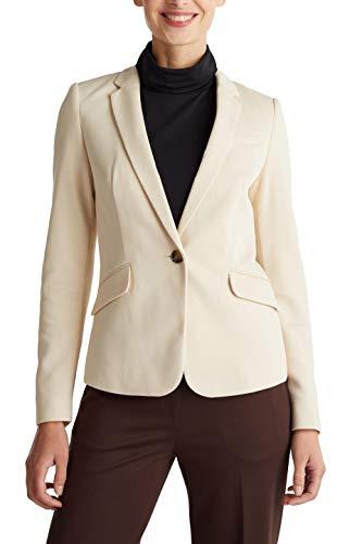 ESPRIT Collection Damen 020EO1G325 Lässiger Business-Blazer, Beige (Beige 285), 38
