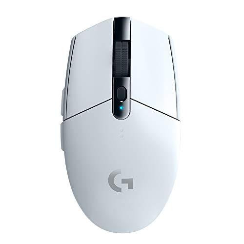 Logitech G305 Lightspeed Wireless Gaming Maus, Hero 12000 DPI Sensor, 6 Programmierbare Tasten, 250 Stunden Akkulaufzeit, Benutzerdefinierte Spielprofile, Leichtgewicht, PC/Mac - Weiß