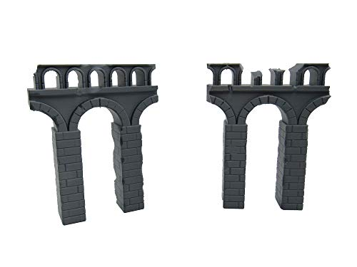 EnderToys Destroyed Roman Aqueducts, Terrain Scenery for Tabletop 32mm Miniatures Wargame, 3D Printed and Paintable