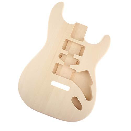 SM SunniMix Cuerpo de guitarra de madera pulida sin terminar para piezas de guitarra eléctrica