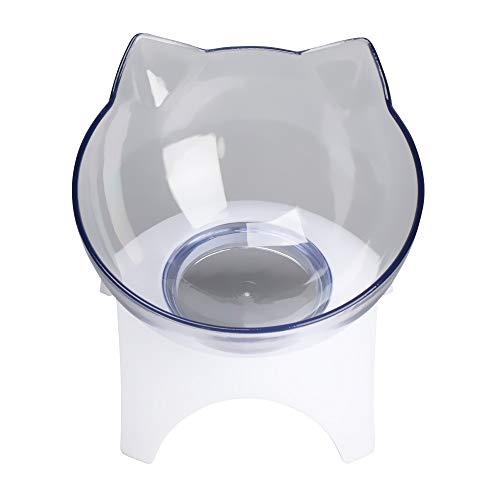 Herausnehmbarer, geneigter, transparenter Wassernapf für Katzen, Futternapf, Katzenohren, schützt die Wirbelsäule