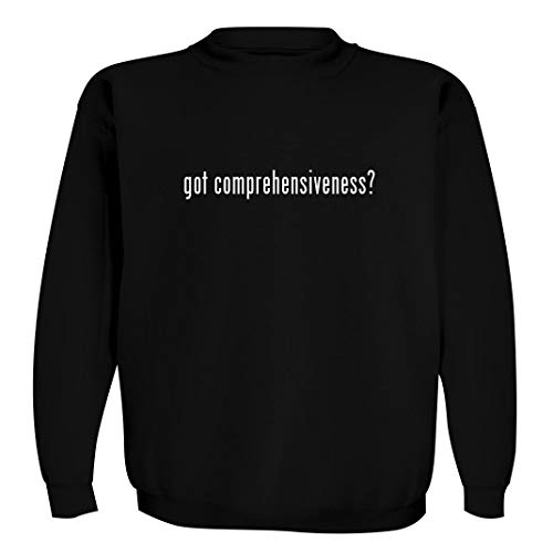 got comprehensiveness? - Men's Crewneck Sweatshirt, Black, X-Large