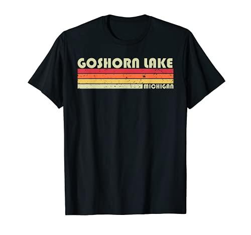 GOSHORN LAKE MICHIGAN Divertido Regalo de Verano de Pesca Camping Camiseta