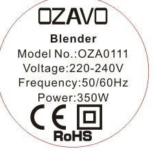 OZAVO Blender   Mini Blender Mixeur des Fruits   Mixer   350W   Blender à Smoothie...