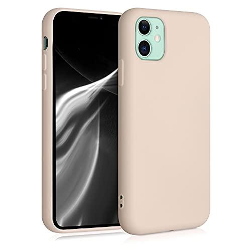 kwmobile Slim Hülle kompatibel mit Apple iPhone 11 - Hülle Silikon Handy - gummiert - Handyhülle Perlmutt