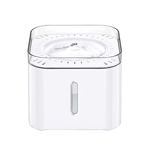Pet Smart Water Dispenser Cat Water Dispenser Automatic Mobile Drinking Water Feeder Artifact Cat Water Bowl Pet Waterer Convenient and Durable (Color : White, Size : 18.8x18.8x15.6CM)