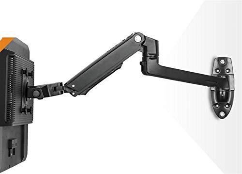Soporte para TV 10'-27' Soporte para Montaje en Pared para Monitor LCD Soporte para TV Aluminio 360 Girar pivote Doble Brazo Extensible 1-10Kg,Soporte para TV (Color: Negro)