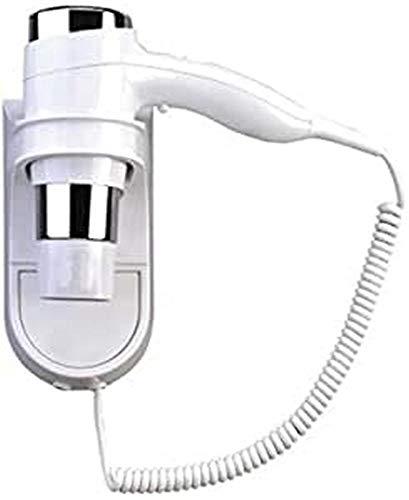 DOBO 1600W Fisso Muro Asciugacapelli con Inserti Argento, Bianco