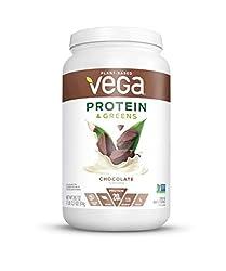 Vega Protein & Greens Chocolate (25 Servings, 28.7 Ounce) - Plant Based Protein Powder, Keto-Friendl