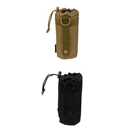 T TOOYFUL Outdoor Jagd MOLLE Rucksack Wasserflaschenhalter Kettle Bag Pouch