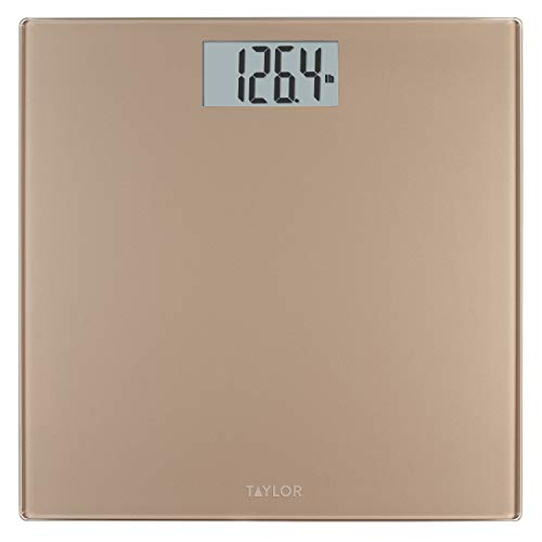 Taylor Precision Products Digital 400 lb Capacity Bathroom Scale, Champagne