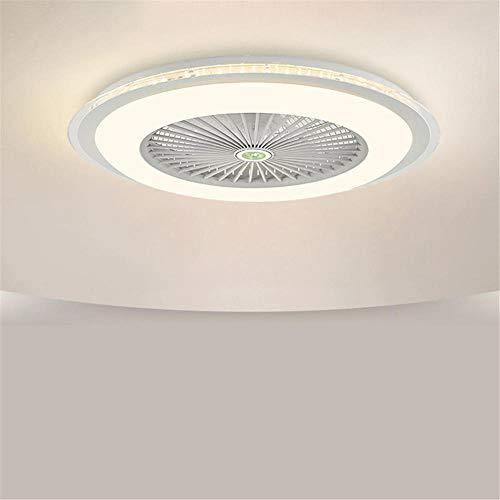 WTTCD Ventilatore Da Soffitto Con Illuminazione A LED Muto 40W Luce Dimmerabile Ventola 60 * 20Cm Luce Invisibile Con Telecomando Dimmerabile A 3 Colori Per Studio In Camera Da Letto-Bianco-220V