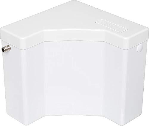 WC Eckspülkasten Classic | Kunststoff | Spül-Stopp-Funktion | 6-9 Liter | Tiefspülkasten | Spülkasten für WC, Toilette | Weiß