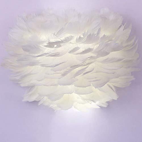 Feather Wandlamp Woonkamer Modern Nachtkastje E27 Wandlamp Voor Slaapkamer Foyer Living Lezen Zitkamerdecoraties (Inclusief Lamp),White light