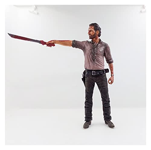 VBCGGGG The Walking Dead Figure Rick Grimes Statue Figure Movable Form American TV Series Collection Sheriff 25CM -A