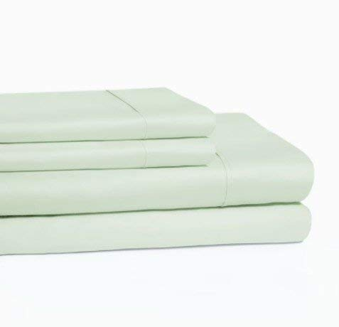 800-Thread Count 100% Cotton Sheet Set Mint Twin ,3-Piece Bedding Sheets for Bed ,Long Staple Cotton, Breathable ,Easy Care ,Soft nd Silky Sateen Weave, fits Mattress 16
