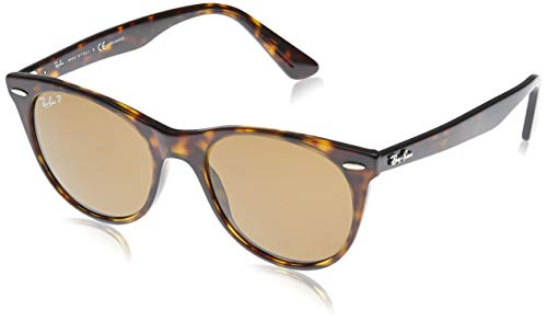 Ray-Ban 0RB2185 Gafas de sol, Striped Havana, 55 Unisex