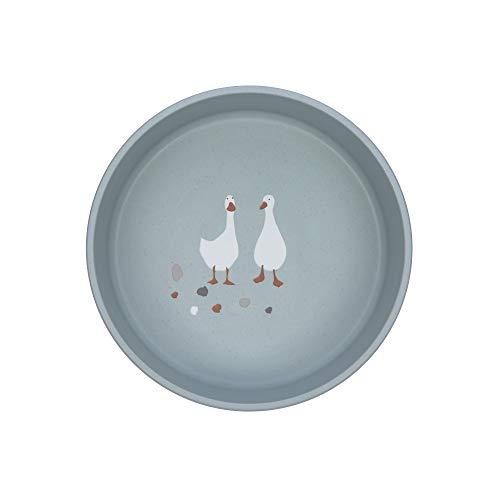 LÄSSIG Kinder Schüssel Schälchen Kindergeschirr ohne Melamin, BPA-frei, für Spülmaschine und Mikrowelle/Bowl Tiny Farmer Sheep/Goose blue, blau