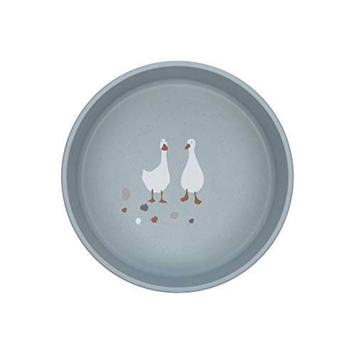 Lässig 1310064841 Ciotola Per Bambini/Bowl Pp/Cellulose Tiny Farmer Sheep/Goose Blue - 90 g