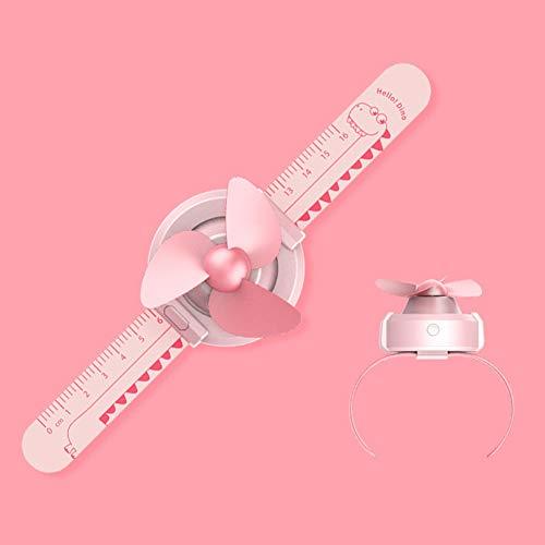 Xincsiwang Kinder Horloge Vorm Ventilator, Leuke Mini Ventilator voor Kleine Kinderen, Verstelbare Riem