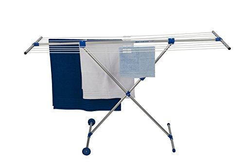 stewi Combi Maxi - Tendedero, Aluminio, 132 x 57 cm, Color Plateado y Azul