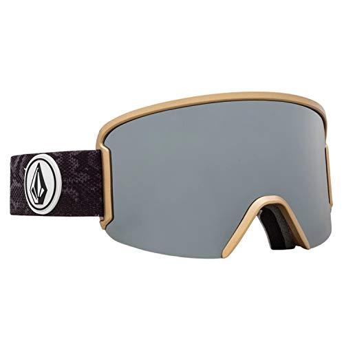 Volcom Gafas de esquí y snowboard para jardín, color bronce cromado
